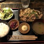 福みみ - 三元豚の生姜焼き定食(税込み990円)