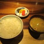 飯家くーた - ご飯・味噌汁・漬物