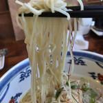 フーミン - 麺は喉ごし良く、小麦っぽい香りも残り、