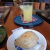伝承園 - 料理写真:焼餅とリンゴジュース