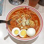 蒙古タンメン中本 - 「北極野菜シャキシャキ」+「スライス卵」¥1,020