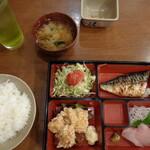 美味処まつを - 料理写真:幕の内定食 800円
