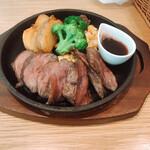 グリーン グリル - 牛ハラミ肉鉄板ステーキ