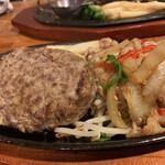 肉の万世 - ハンバーグと生姜焼き