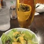 インド式 チャオカリー - 生ビールセット(レギュラーサイズ、550円)
