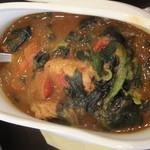 インド式 チャオカリー - チキンカレーのアップ