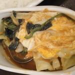 インド式 チャオカリー - 海老カレーのアップ