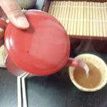 大清水 - 夫が、私にも、蕎麦湯注いでくれました(#^_^#)♡♡