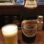 麺たつ - 瓶ビア