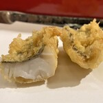 天冨良 天甲 - メバル(呉) 白身で淡白なメバルには塩でも天汁でも合います♪