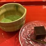 天冨良 天甲 - お抹茶と水羊羹