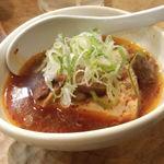 やきとん酒場 上野とら八 - 煮込み豆腐ハーフサイズ