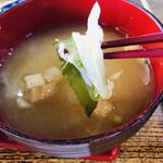 とん亭 - 味噌汁の具材