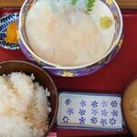 竹野鮮魚 - アカハタ刺身定食