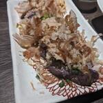 朝挽き鶏 炭火串焼き 牡丹 -