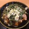 千歳 八天庵 - 料理写真:かしわ山菜蕎麦 820円