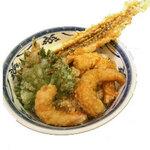 天ぷら てんちゃん - [限定品目]一本穴子とえびプリッのコンビ天丼