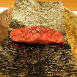 西麻布 鮨 ふくじゅ - 手巻き前の鉄火の手巻き(13000円のお任せ握りのコース)