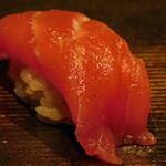 西麻布 鮨 ふくじゅ - マグロの赤身(13000円のお任せ握りのコース)