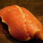 西麻布 鮨 ふくじゅ - トロの漬け(13000円のお任せ握りのコース)