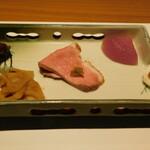 西麻布 鮨 ふくじゅ - 前菜(13000円のお任せ握りのコース)