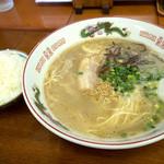 浜ちゃんぽん - 「ラーメンライス」(650円)。ラーメンとご飯。シンプルなセットです。
