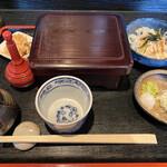 そば切り 稲美 - 料理写真:穴子重とお蕎麦のセットです
