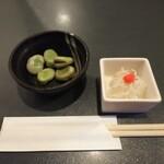 肉と魚 いっすんぼうし - 「お通し(¥300)」