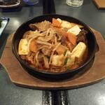 肉と魚 いっすんぼうし - 「牛すじの鉄板豆腐(¥680)」