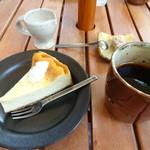 カフェ 崖の上 - ベイクドチーズ