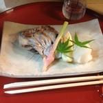 柿汁 - 太刀魚の塩焼き