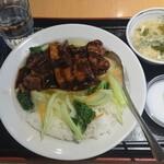 福臨門 - 野菜と豚肉の醤油煮込み丼 ¥680-