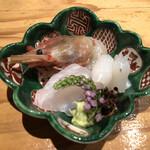 和食 二郎 - ボタン海老、いか、鯛