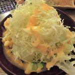 あみ焼はし本 - 野菜サラダ \250