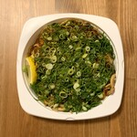 ヒロキ - シソ・ネギ/うどん ¥1,400- (税抜)