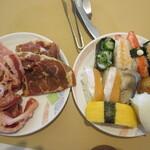 お祭り一番館 - 肉と寿司