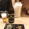 海の幸 美味 - 料理写真:瓶ビール(サッポロ・中瓶)と通し