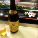 帆掛鮨 - ビールはエビスの瓶