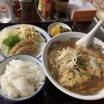たこつぼ - とんかつラーメン定食¥750
