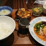 chuukashunsaimorimoto - よだれ鶏ランチとミニ麻婆豆腐