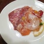 トクシマ バル - 新鮮魚介のカルパッチョ♪