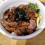 食堂 肉左衛門 - ステーキ丼1200円