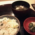 13788679 - みぶ菜としらすご飯