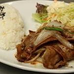 北浜ハイボールBaru - ランチ    豚生姜焼き600円(税込)