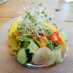 ロカボア - サラダ:にんじんと塩麹ドレッシングで