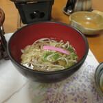 ホテル秘境の湯 - 名物の蕎麦