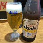 麺家 黒 - 瓶ビール 500円