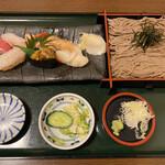 漁亭 浜や - 特上寿司そば御膳2000円税別 お寿司が特に美味しかったです。