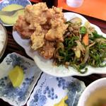 香雲 - 料理写真:香雲定食(唐揚げと肉ピーマン)