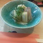 真 お魚と野菜 - 鱧とネギ